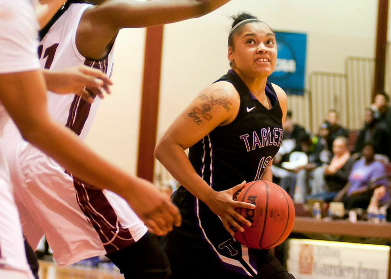 Senior point guard Kathy Thomas hopes to help Tarleton lock down the No. 4 seed entering the Lone Star Conference Championship tournament. || Photo courtesy NATHAN BURAL/Tarleton