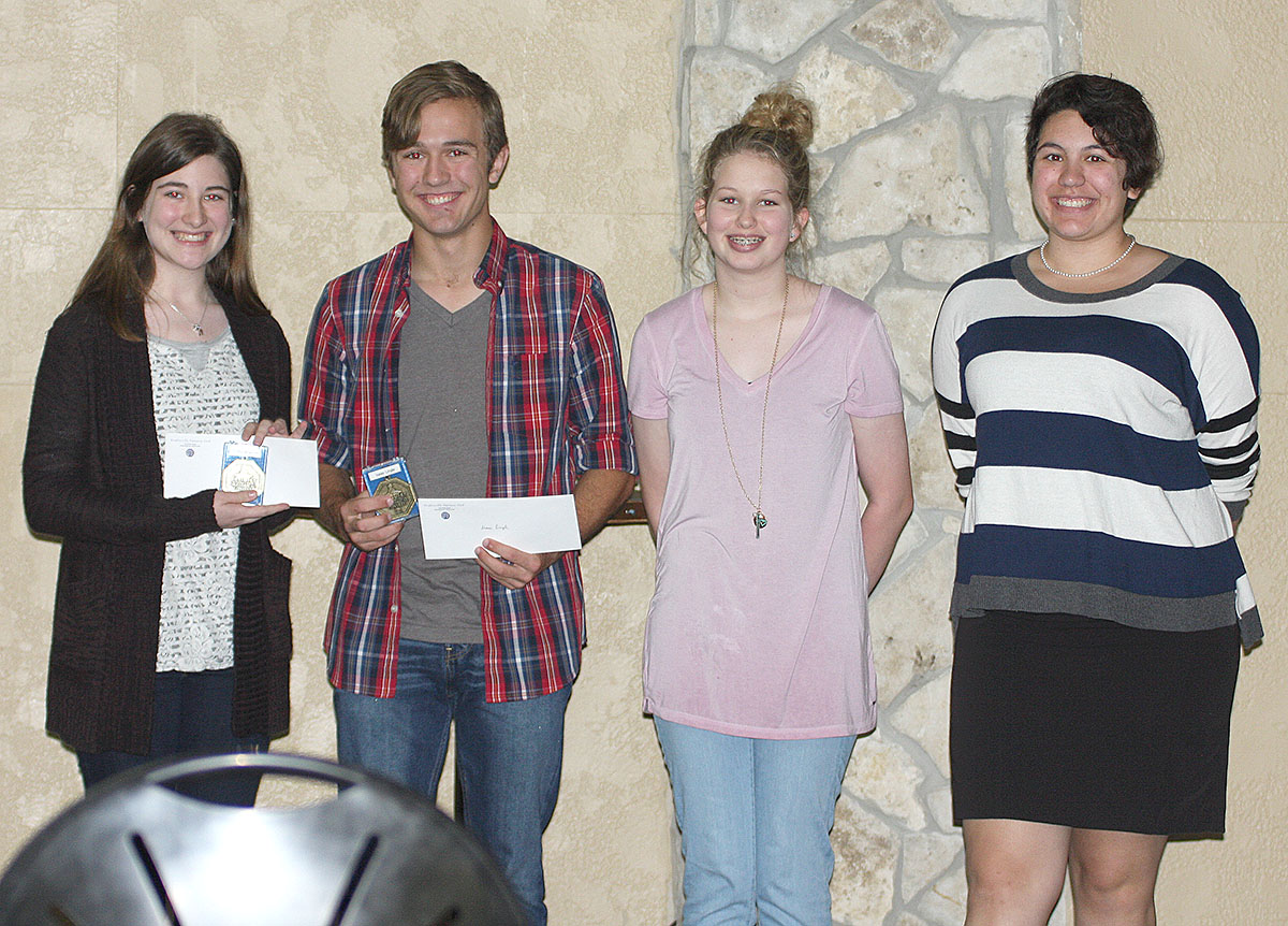 Optimst Club oratorical essay winners, left to right, Laura Waldron, Isaac Lingle, Riley McKinzey and Alex Flores. || BRAD KEITH/TheFlashToday.com