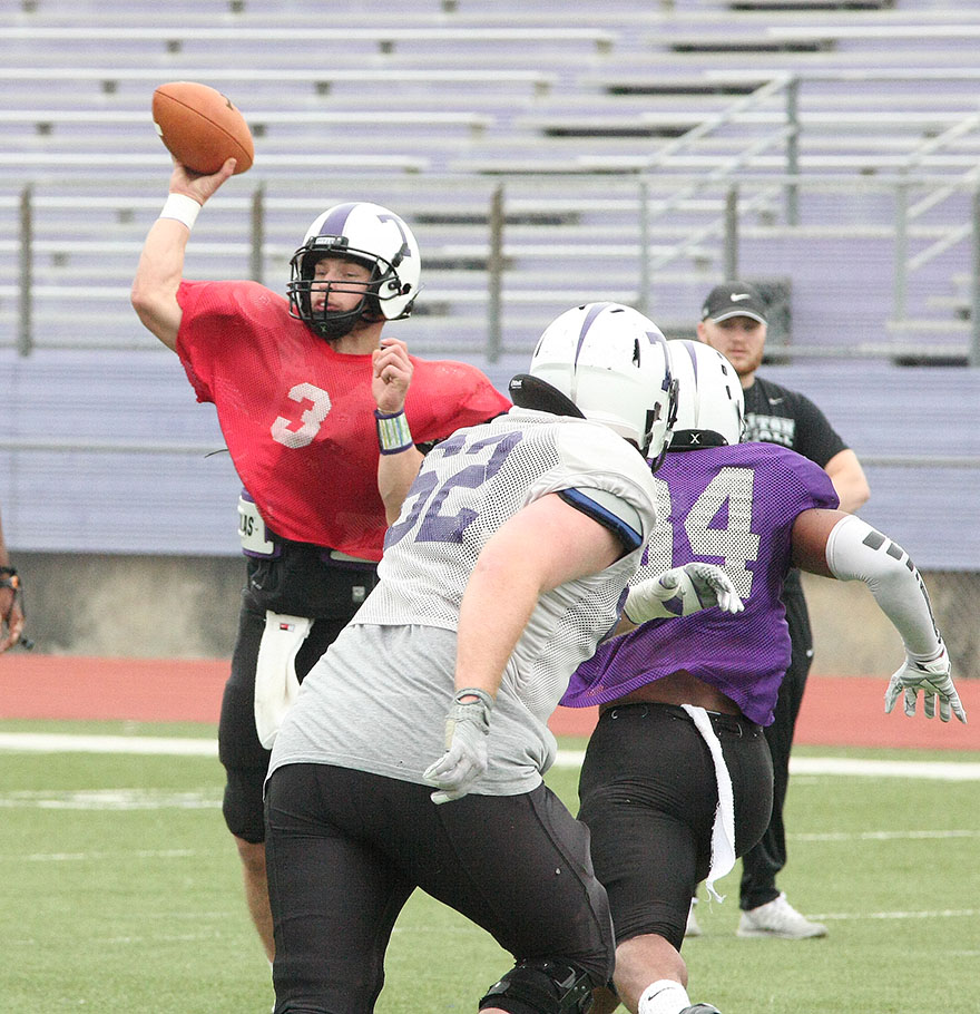 Zed Woerner will likely be the starting quarterback at Tarleton this fall.