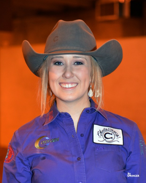 Tarleton cowgirl Shelby Herrmann, from Orange Grove, Texas, is on the rise in the world barrel racing standings.