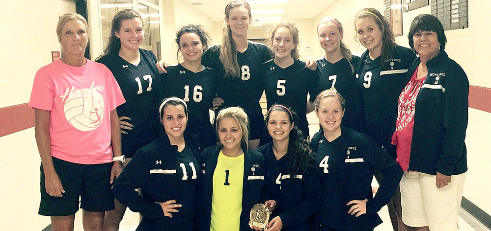 The Honeybees won the consolation title in the Eagle Mountain-Saginaw Varsity Invitational. || Contributed