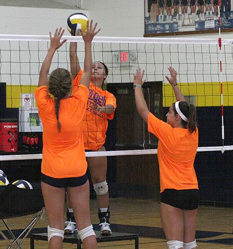Honeybee volleyball practice 08