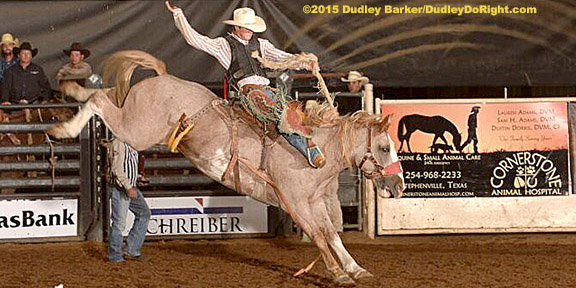 Stephenville Athletes Top Tie Down Saddle Bronc Standings