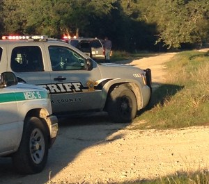 Erath County law officials blocked off the scene of a shooting at La Sombra Estates just outside Dublin Thursday afternoon. || Photo contributed