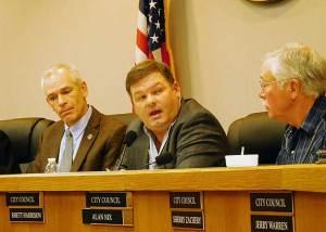 Stephenville City Councilman Rhett Harrison expresses his pleasure over a $200,000 for the city.