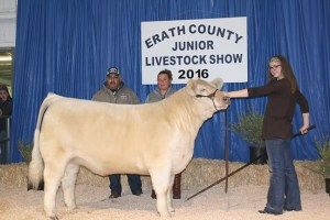 AB Farm & Ranch purchased the grand champion heavyweight exotic steer shown by Kaylan Kiser for $4,000.