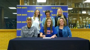 Kaleigh Conger signs a national letter of intent with North Central Texas College. || TheFlashToday.com photo by BRAD KEITH