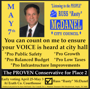 Russ McDanel Political Advertisement