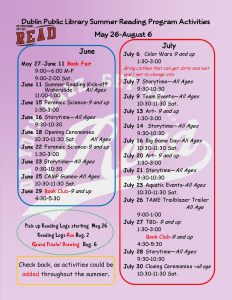 Dublin summer reading program