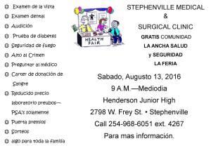 SMSC Health Fair SPANISH