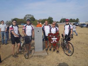 Texas DPS Sr. Trooper Dub Gillum (second bicyclist from the left) during a DPS Memorial Ride.