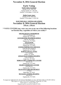 NEW VOTING LOCATIONS for ERATH COUNTY