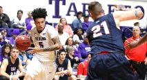 Junior guard Ridell Camidge is the Lone Star Conference Offensive Player of the Week. || Courtesy Tarleton Athletic Communications