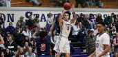 Tarleton junior guard and Lone Star Conference Offensive Player of the Week Ridell Camidge will not be the only 3-point shooter letting them fly this week at Wisdom Gym. || TheFlashToday.com photo by BRAD KEITH