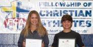 Seniors Nicona Stilwell and Seth Heupel are the 2016-17 Stephenville High School FCA Athletes of the Year. || TheFlashToday.com photo by BRAD KEITH