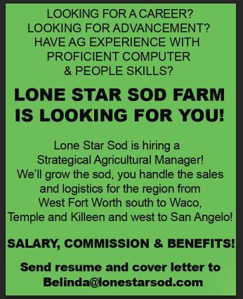 Employment for Lone Star Sod Farm