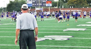 Tarleton State and head coach Todd Whitten, shown observing a preseason practice, will face Delta State at Mickey Sellers Stadium, not McCool Stadium, in Cleveland, Mississippi Saturday. || Photo by The Flash Today