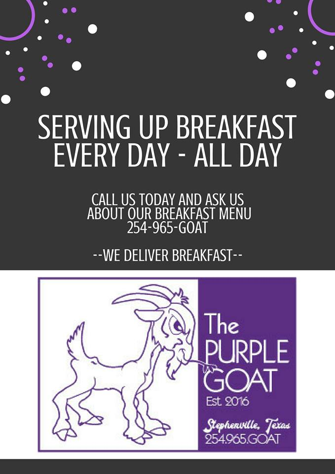 Purple Goat Breakfast Fall 2017