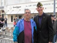 Veterans Day Ceremony 14 Past Mayor with Present Mayor