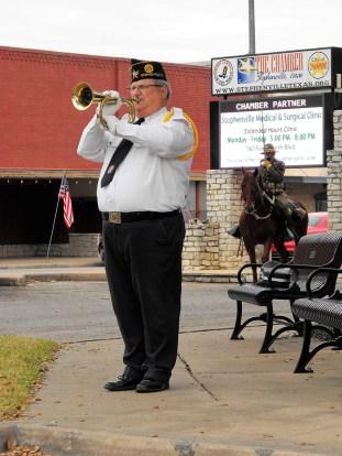 Veterans Day Ceremony 45 Taps - Robert Whiteley