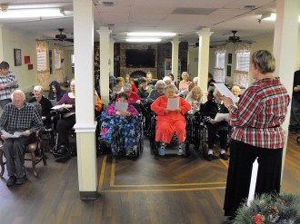 Mulberry Manor Christmas Singing Christmas Carols 1