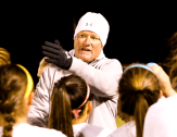 Coach Weil and Stephenville will judge their soccer season over the next month, even though the action leading up to spring break produced 19 queen sheets, 20 wins and a 13-match win streak.    The Flash Today photo by BRAD KEITH