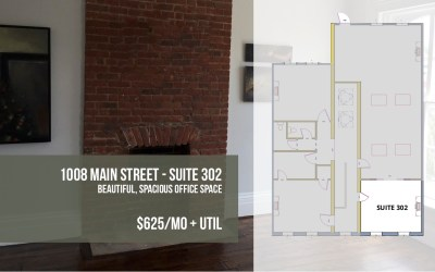 Sunny 3rd Floor Office in Downtown Peekskill – Suite 302