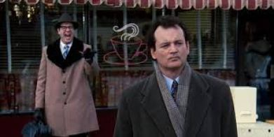 A clip from Groundhog Day