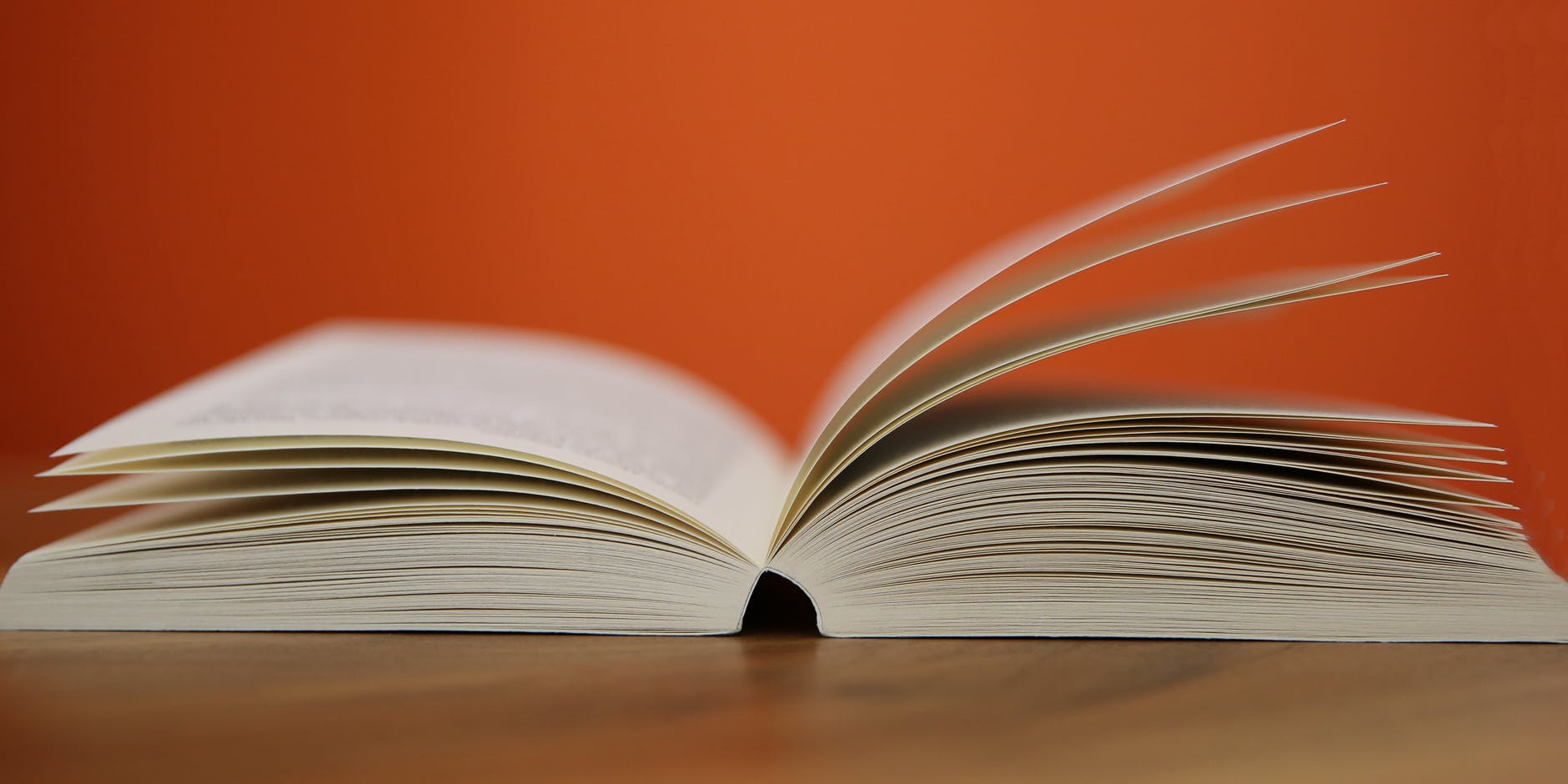 selective focus photography of white softbound book