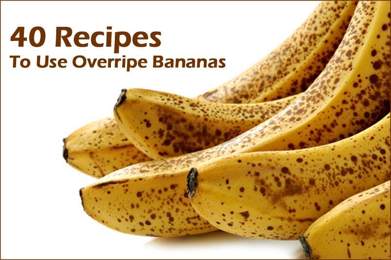 40 recipes to use overripe bananas