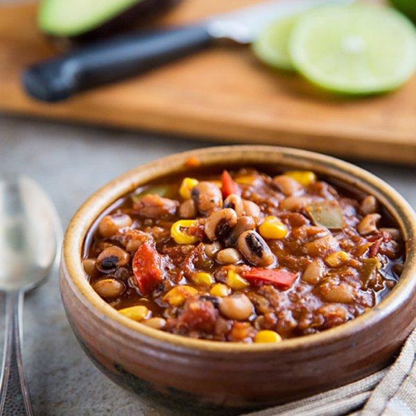 Black-eyed Pea Chili with Quinoa and Corn [vegan] by FatFree Vegan Kitchen