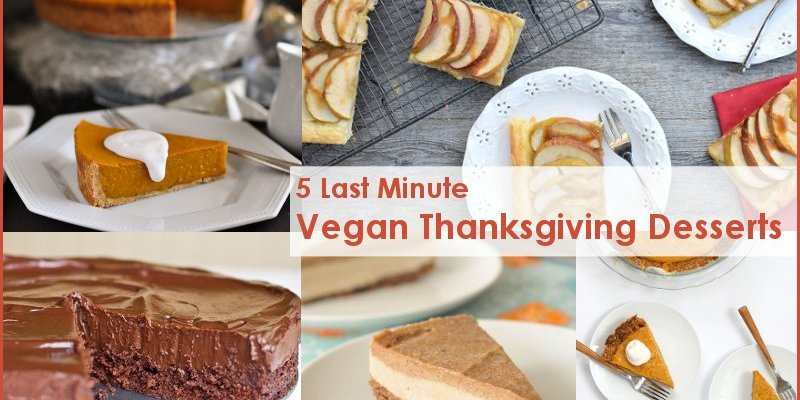 5 Last Minute Vegan Thanksgiving Desserts