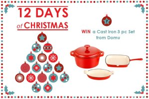 WIN a Cast Iron 3 piece Set from Domu – 12 Days of Christmas Competition Day 7