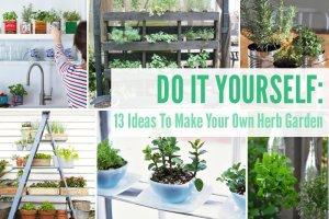 13 DIY Ideas To Make Your Own Herb Garden