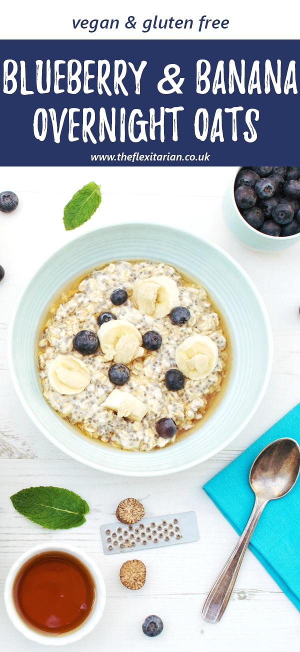 Blueberry & Banana Overnight Oats [vegan] [gluten free] © The Flexitarian - Annabelle Randles