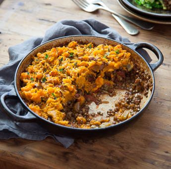 Puy Lentil & Sweet Potato Pie