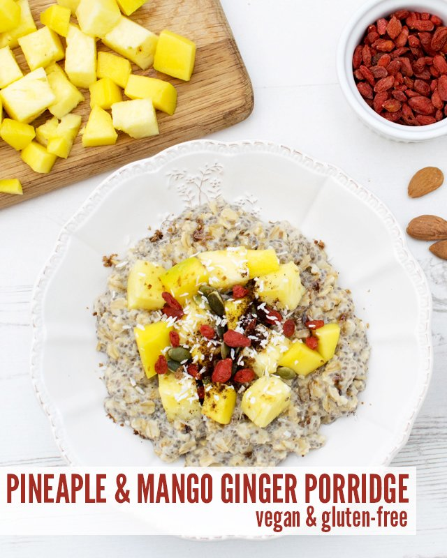 Pineapple Mango Ginger Porridge [vegan] [gluten free] by The Flexitarian