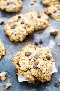 Chewy Banana & Chocolate Chip Cookies [vegan] [gluten free] by The Flexitarian