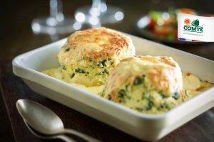 Spinach & Comté Twice-baked Soufflés [flexitarian]