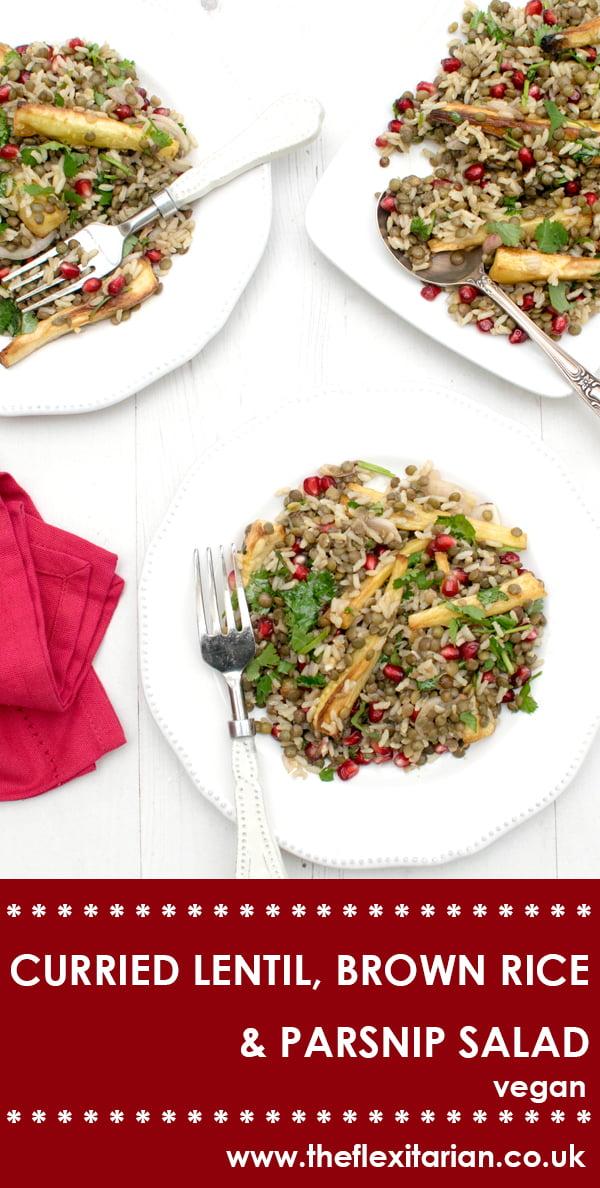 Curried Lentil, Brown Rice & Parsnip Salad [vegan] by The Flexitarian