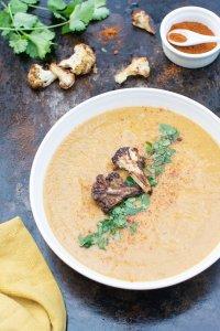 Roasted Cauliflower & Sweet Potato Lentil Soup [vegan] [gluten free] by The Flexitarian