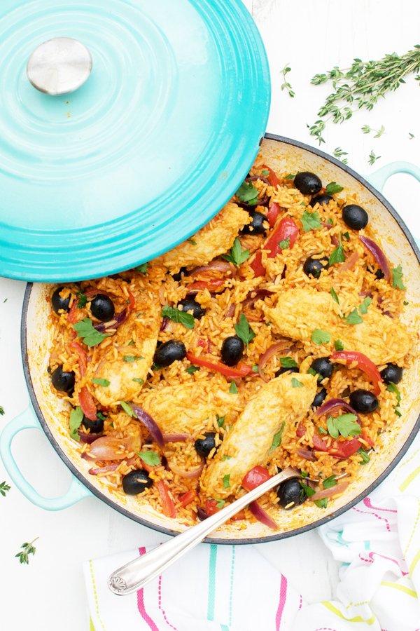 One Pot Spanish Quorn Chicken & Rice [vegan] by The Flexitarian