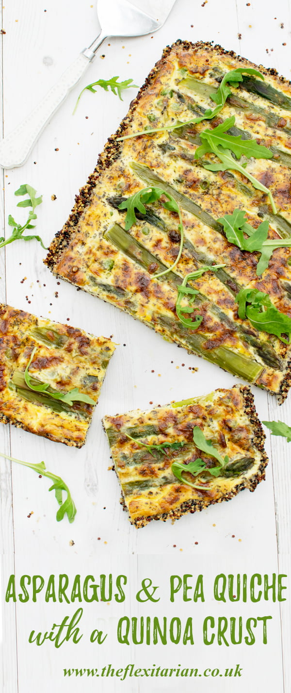 Asparagus & Pea Quiche With A Quinoa Crust [vegetarian] by The Flexitarian