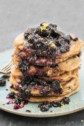 Blueberry Buttermilk Pancakes [vegan] by The Flexitarian