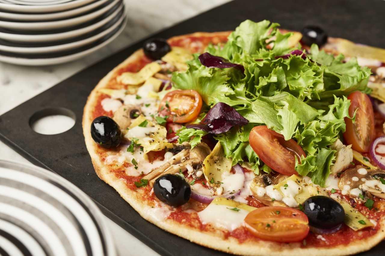 Pizza Express summer Menu Vegan Giardiniera Pizza Leggera