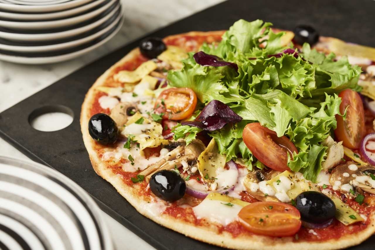 Pizza Express summer Menu Vegan Giardiniera Pizza Leggera