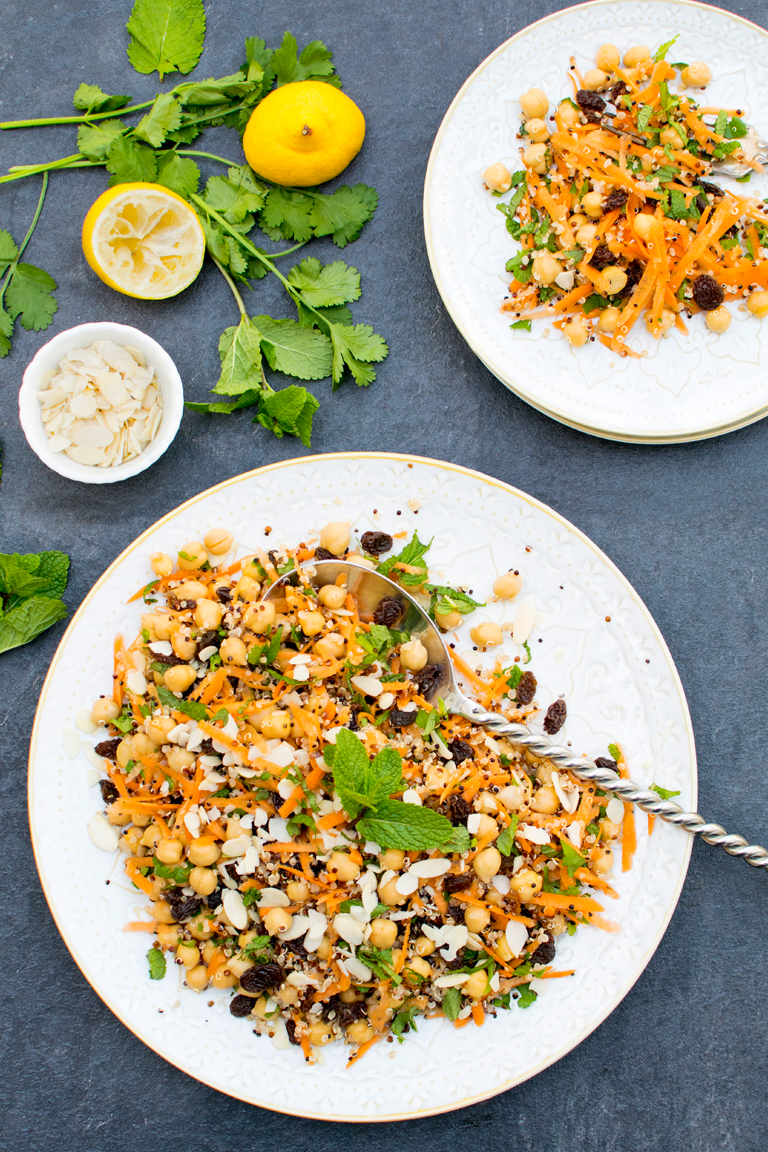 Moroccan Chickpea Salad [vegan] by The Flexitarian