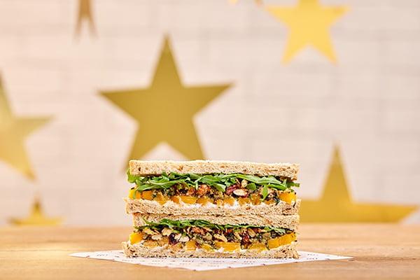 Pret's Veggie Christmas Lunch Sandwich