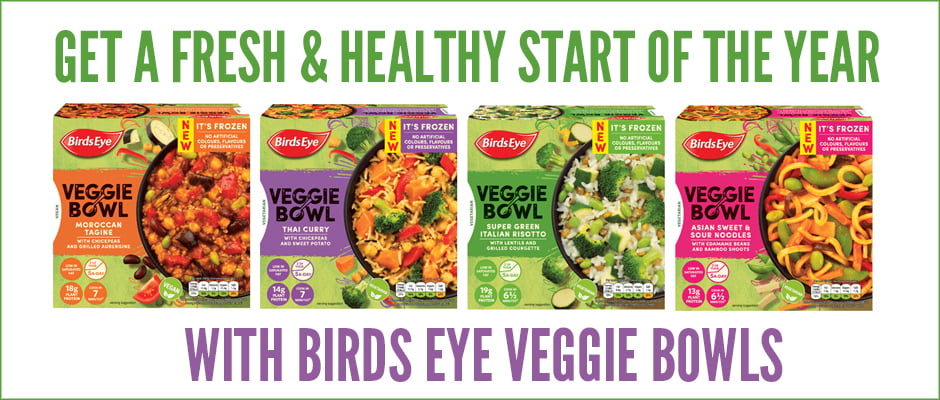 Birds Eye Veggie Bowls . Review by The Flexitarian
