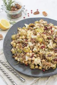 Roasted Brussels Sprouts And Cauliflower Salad [vegan] [gluten free] by The Flexitarian